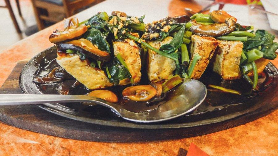 Kangkong tofu