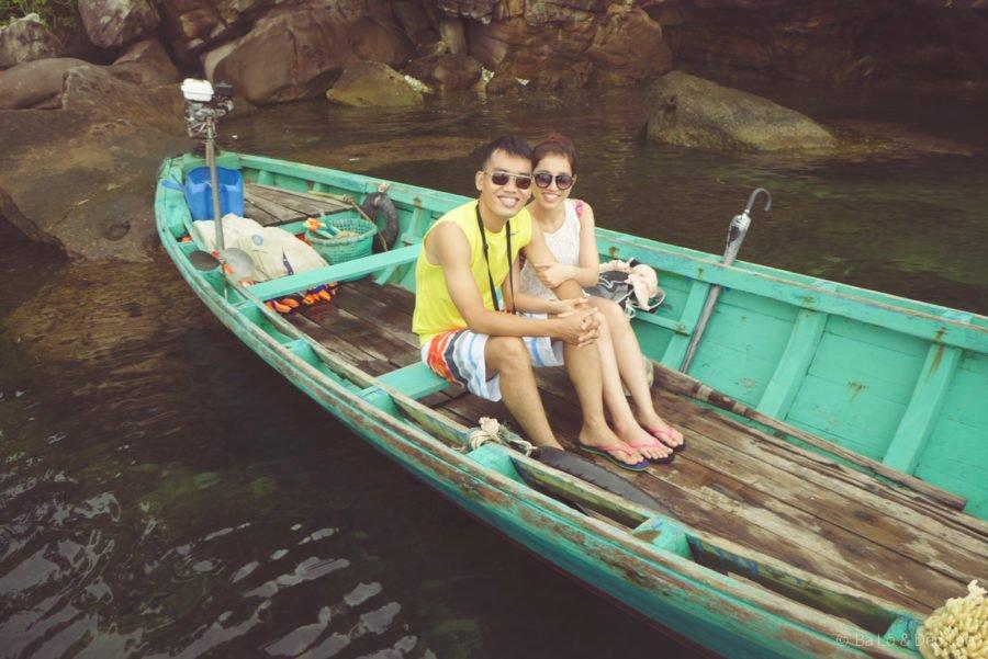 Thuê thuyền đi ngắm san hô tại Mũi Gành Dầu