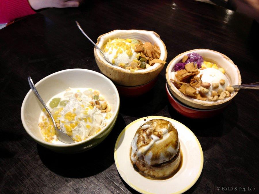 Đủ loại kem xôi dừa đa dạng tại Bùi Viện