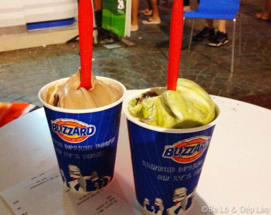 Hai cốc kem to đùng mà có khoảng 100k VND! ngon đến muỗng cuối cùng luôn.
