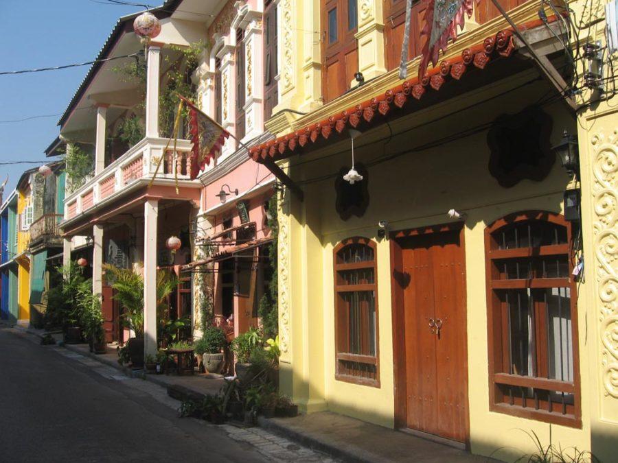 Phố cổ tại Phuket nổi bật với những biệt thự cổ mang lối kiến trúc Trung Hoa cổ