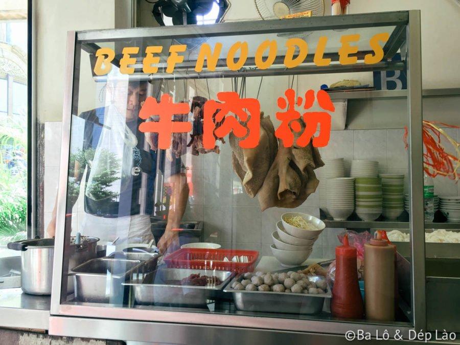 Tiệm phở bò nổi tiếng tại Petaling Street có mặt từ lâu đời