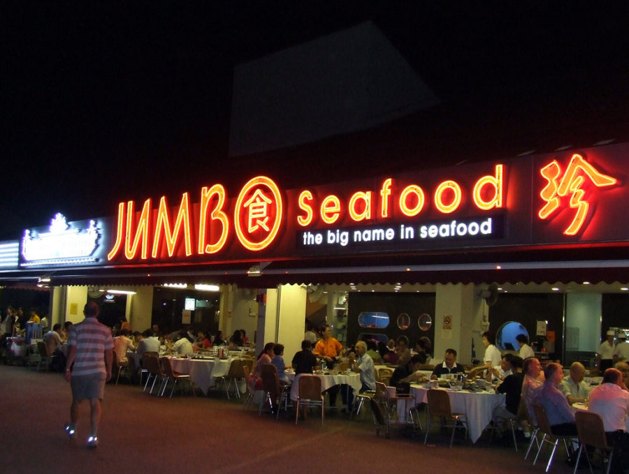 Jumbo Seafood tại East Coast không gian khoáng đãng, lúc nào cũng đông nghẹt khách